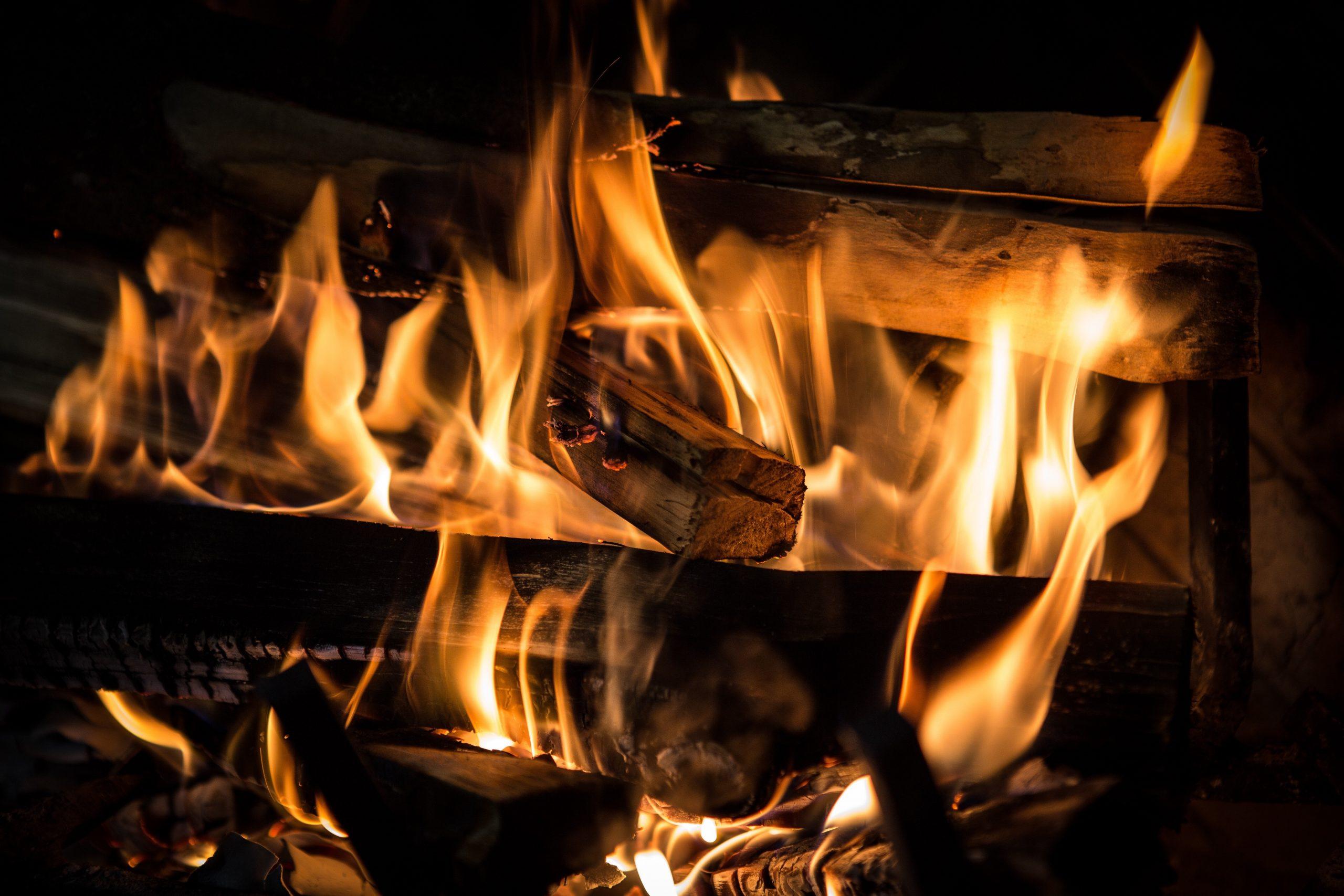 fire, fireplace, flame