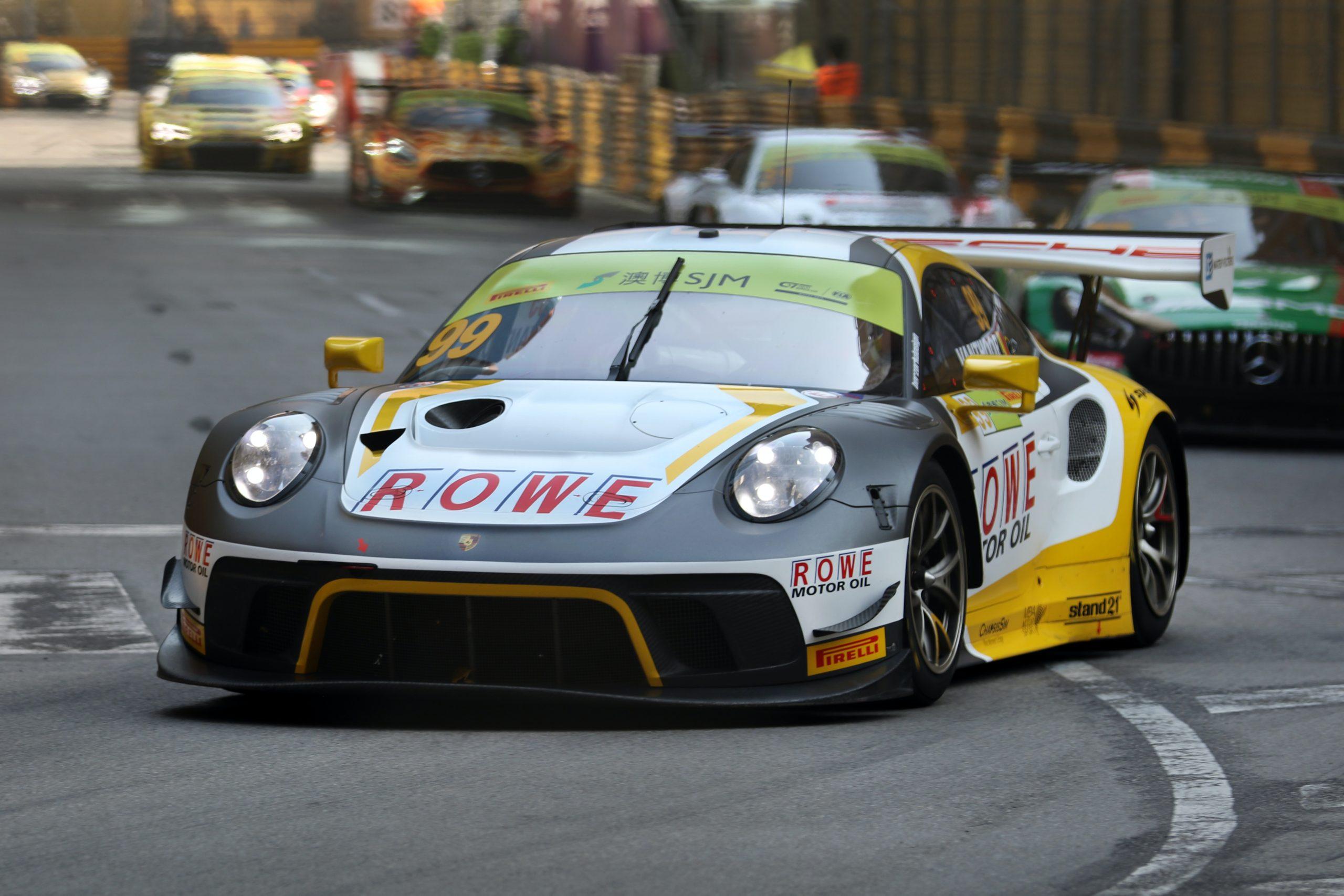 Laurens Vanthoor Belgium FIA World GT Cup Macau 2019 Porsche 911 GT3R ROWE Racing