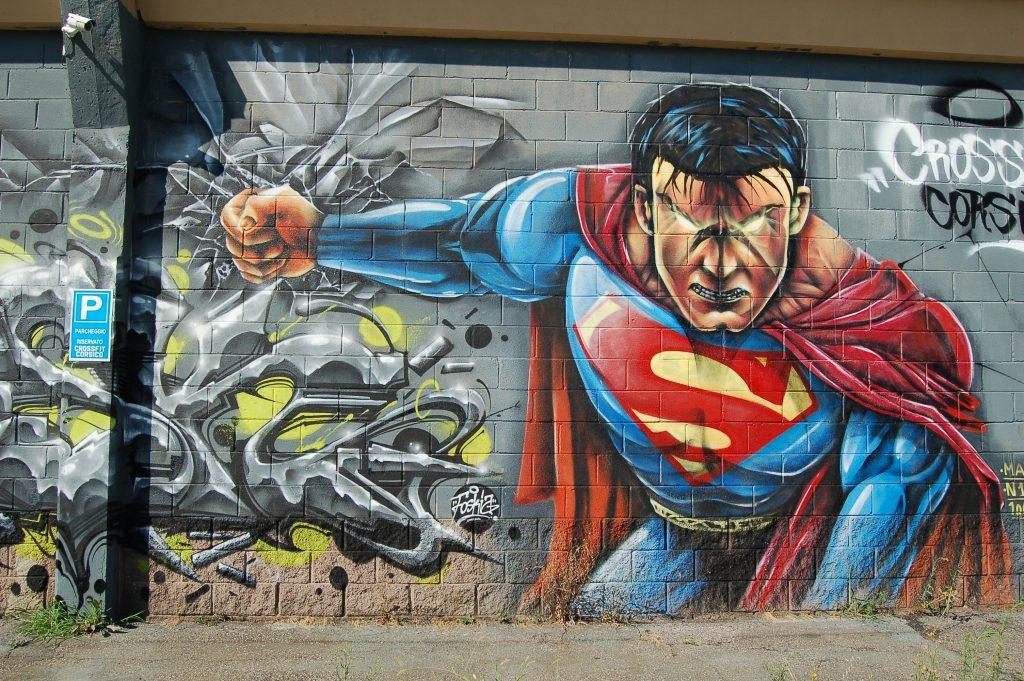wall, art, mural