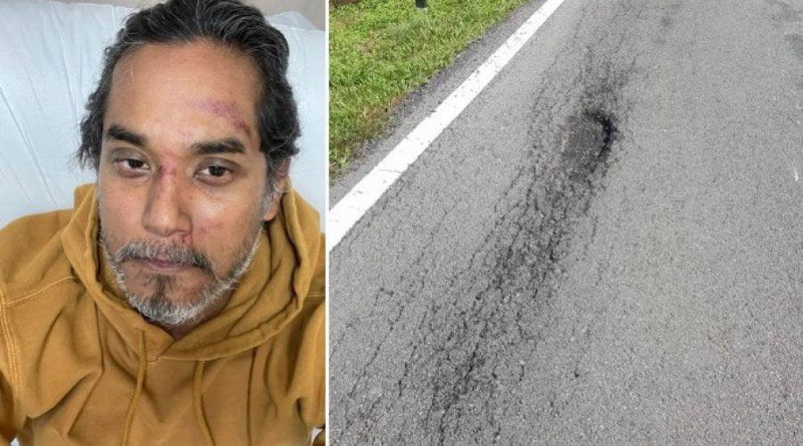 Khairy and the pothole