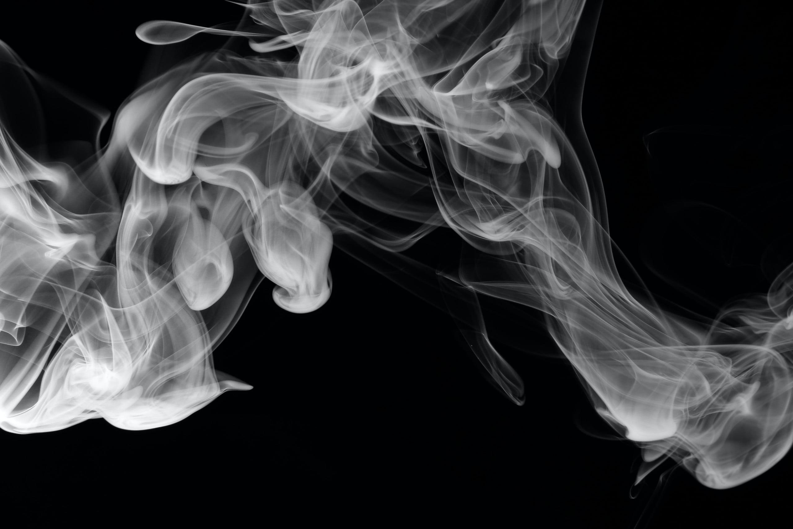 some smoke