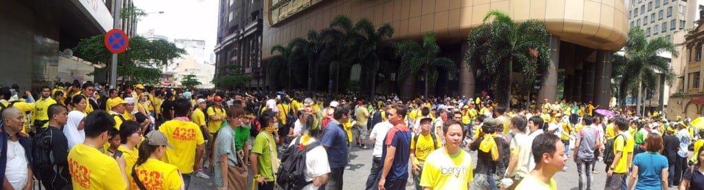 两个魔术师,在Bersih
